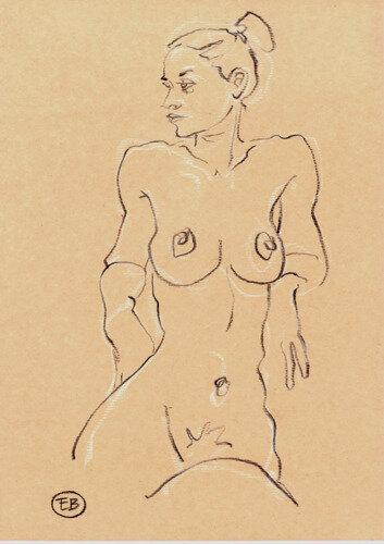 #croquisdenu modele vivant living model Etienne Bonnet Croquis nu dessin peinture Golden Blog Awards nude drawing sketch C MDS00811