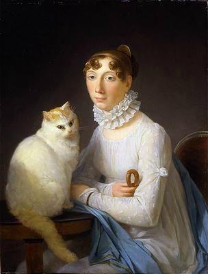 Marguerite Gerard - La dame avec son chat