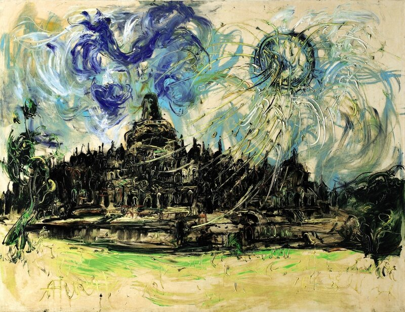 Affandi_Borobudur and The Sun