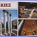 Riez - Colonnes romaines - baptistère - bas cathédrale paléo-chrétienne - datée 1994