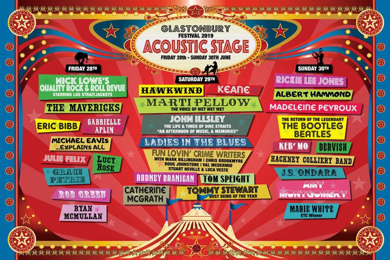 Glastonbury_festival_2019_Acoustic_Acoustic stage_line-up_programmation_poster_affiche