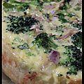 C'est toi la quiche - quiche aux fleurons de brocoli, poisson blanc et zestes d'agrumes