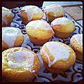 Muffins coeur au lemon curd et son glaçage sucre glace...!