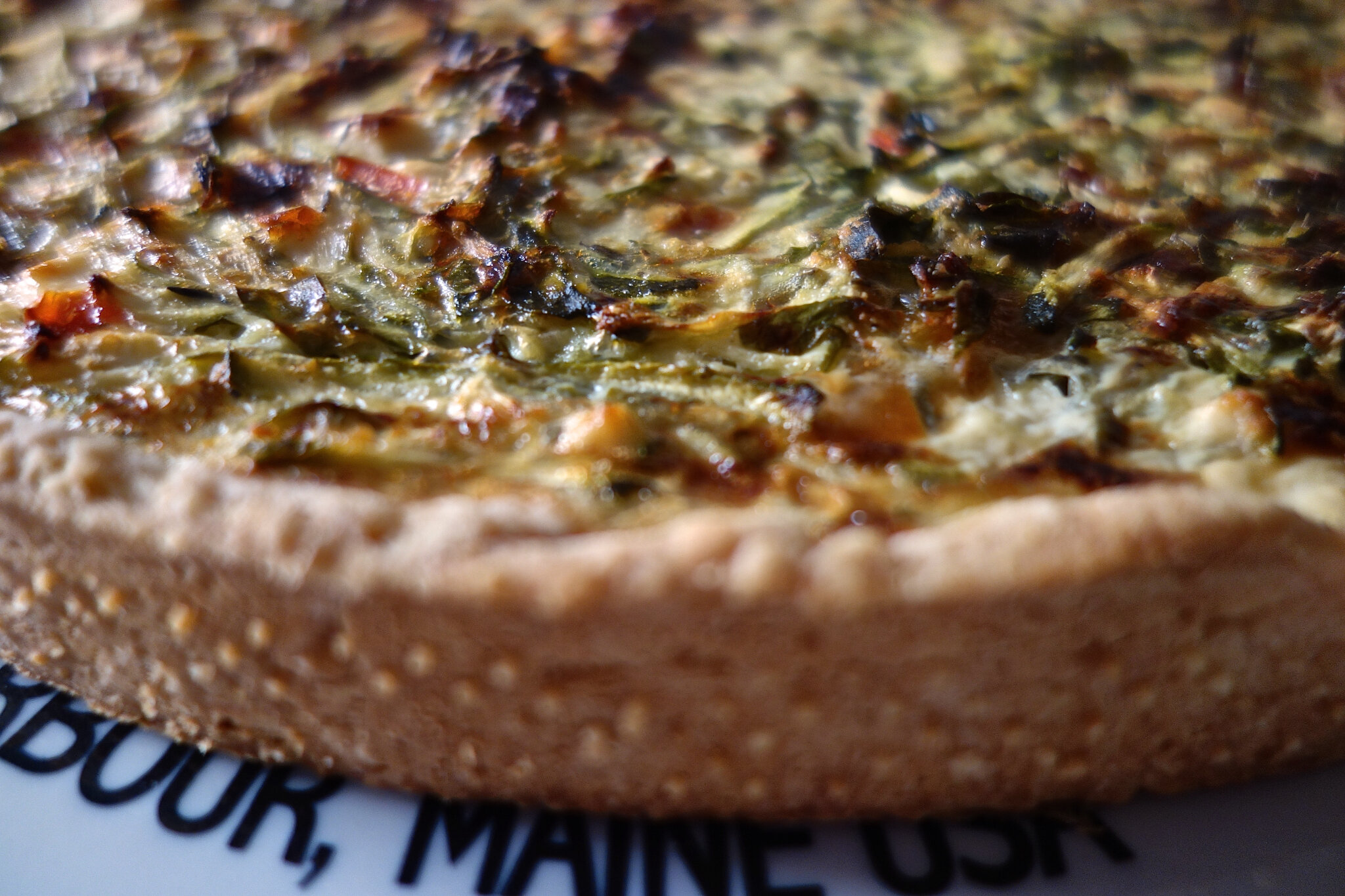 tarte aux courgettes, poivrons, féta
