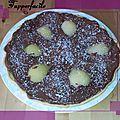 Tarte aux poires, chocolat et noix de coco