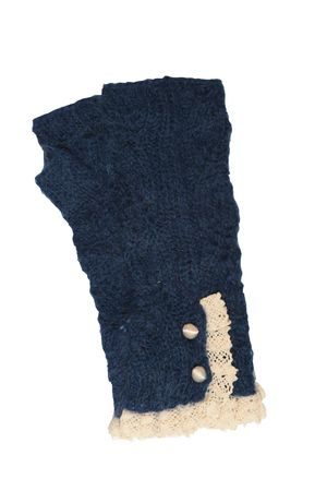 Mohair Lacy Fingerless - Navy copy