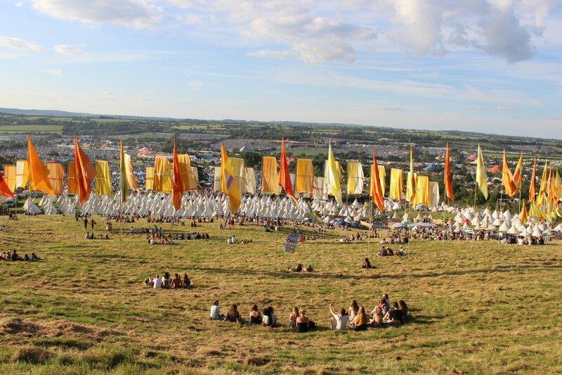 Glastonbury festival 2014 site
