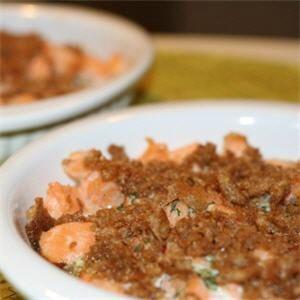 crumble-au saumon