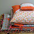 Tour de lit et coussins pour louisa