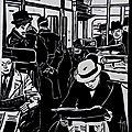 Metro - Linogravure