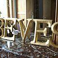 Les lettres dorées : le retour!