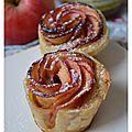 Roses feuilletées aux pommes et au caramel