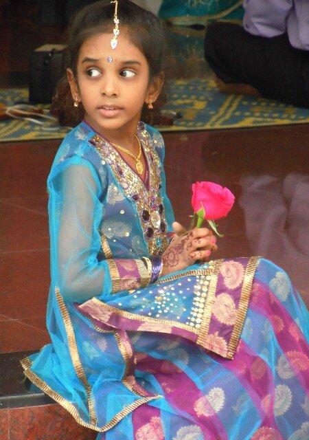 Fillette mariaage hindou
