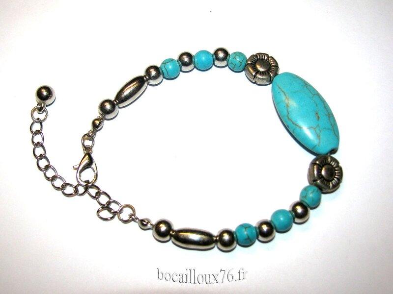 Bracelet HOWLITE Turquoise 5 (5)