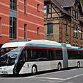 Saint etienne : essai d'un nouveau trolleybus