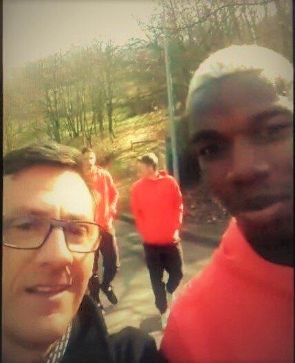 Avec Paul Pogba