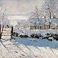 Claude monet et l'hiver