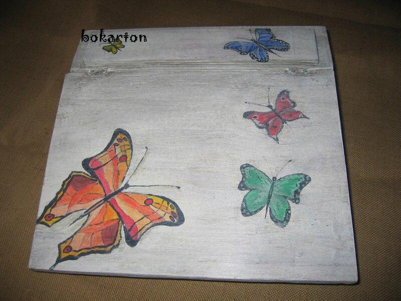ecritoire papillon