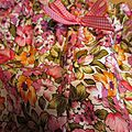 Culotte BIANCA en coton fleuri rose et orange - noeud vichy fushia (3)