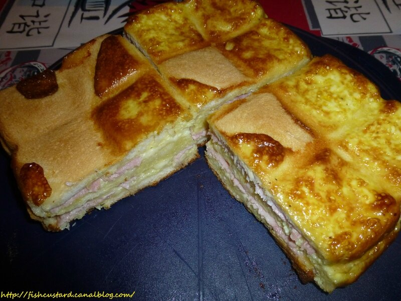 Croque-cake jambon-fromage (moule tablette) (18)