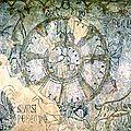 1300-1399 ROUE DE FORTUNE fresque château de Alcaniz