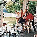Michael rencontre la famille chaplin au manoir de ban (suisse), le 17 juin 1988