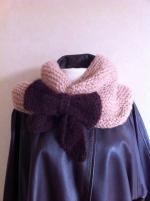 snood beige rosé couv