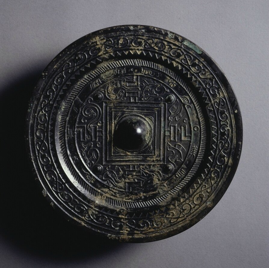 TLV Mirror, early 1st Century - early 3rd Century, China, Eastern Han dynasty (25-220)