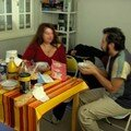 Le dimanche matin, petit dèj chez Morgane avec Cathie et Boris, les lèves tôt