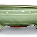 A Longquan celadon -glazed bulb bowl, Ming dynasty (1368-1644)