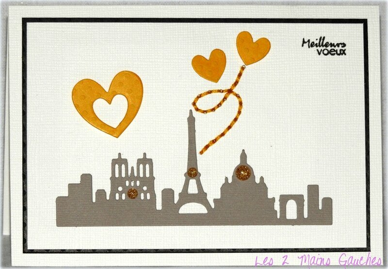 carte de voeux avec monuments de Paris