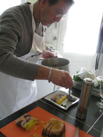 Dressage de la terrine de foie gras