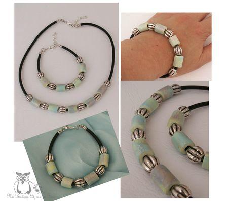 Bracelet 2 dans la mer multi perles métal