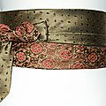 ceinture cravate bronze