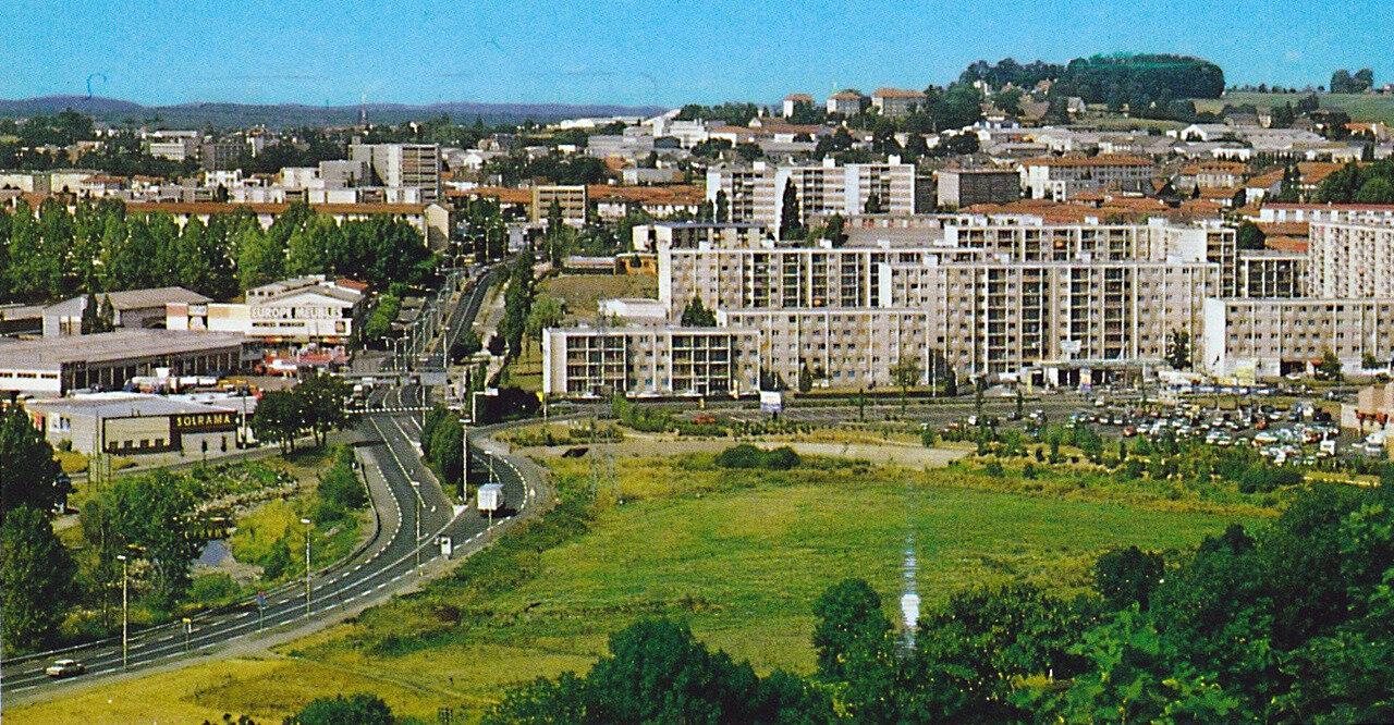 Aurillac, les quartier sud