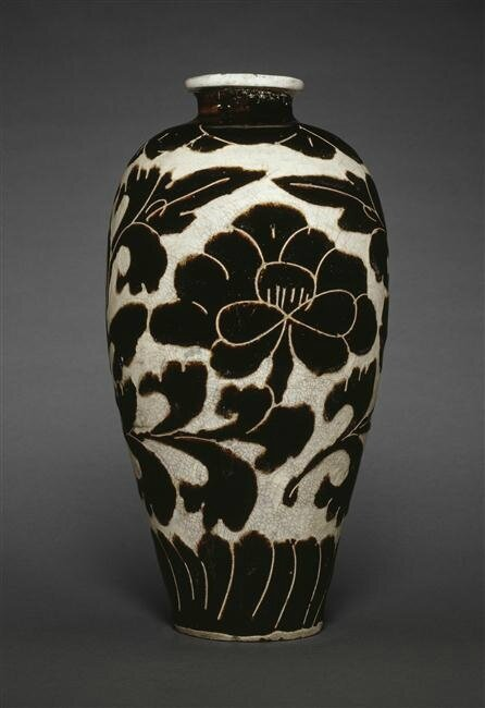 Vase meiping, dynastie Yuan-dynastie Ming, 14e siècle