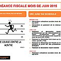 Échéance fiscale mois de juin 2015 / the drc june tax schedule