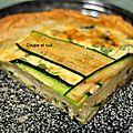 Tarte aux courgettes et au gorgonzola