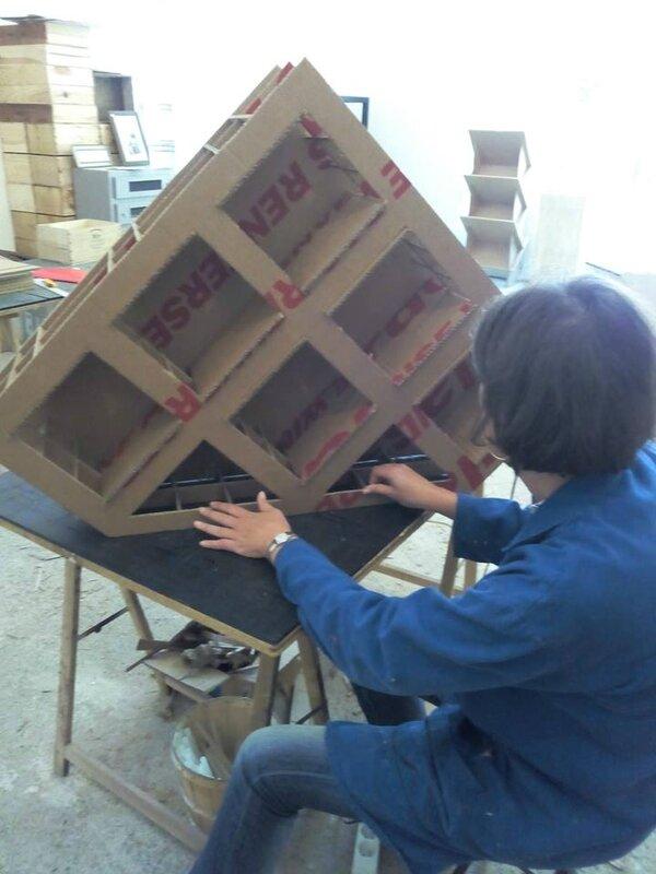 Stage mobilier en carton s1