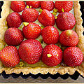 Tarte aux fraises et pistache