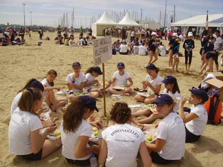 Equipe royan 2012 - pique-nique sur plage