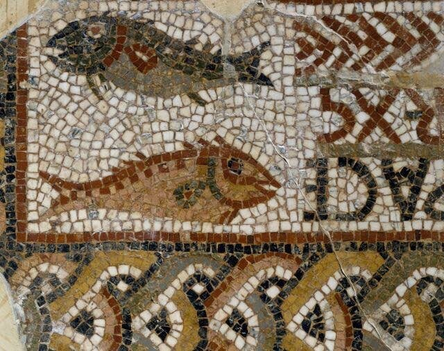 fish mosaiques musee bardo tunis IVe siecle