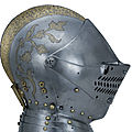 Close helmet for combat at the barriers. augsburg, about 1590