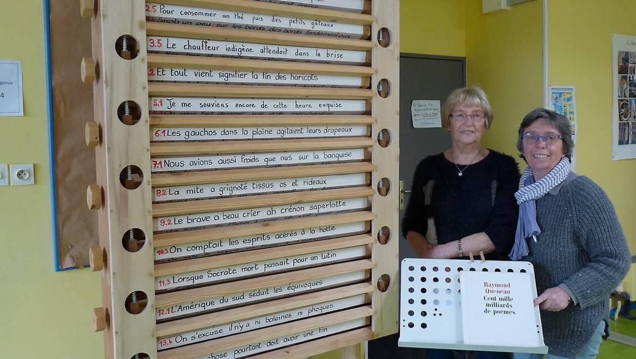 Une machine à créer des poèmes à la bibliothèque