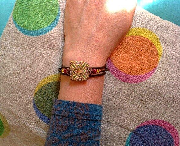 bracelet geom Framboise 3