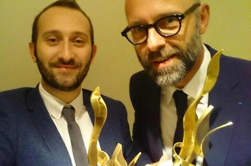 Julien Gasco, responsable medias sociaux Altran et Frederic Fougerat, directeur communication Altran - European Excellence Awards