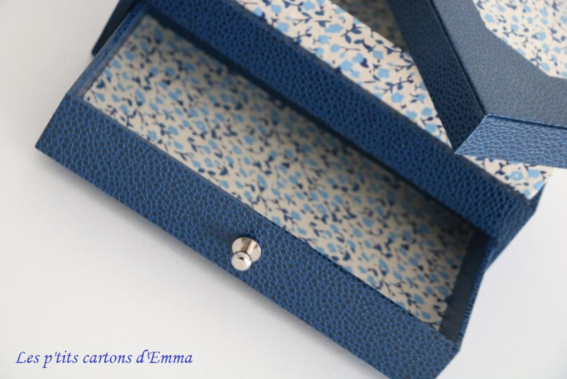 Boite à bijoux de chevet bleue liberty 4