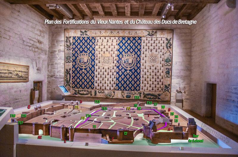 Plan vestiges de fortification du vieux Nantes et du château des Ducs de Bretagne 2