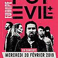 Pop evil - back in europe at last! (02/2019) - enfin de retour @ paris (20/02/2019)!
