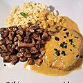 Mignonnette de porc au curry et au miel